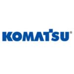 Logo oficial Komatsu. Proveedor enganches.