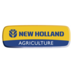 Logo oficial New Holland. Proveedor enganches.