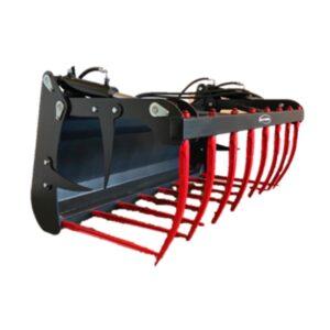 Horca hidráulica desensiladora. Cazos. Accesorios para tractor, telescópica e industrial EURO-TLM.